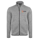 Grey Heather Fleece Jacket-Institutional Mark