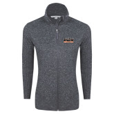 Grey Heather Ladies Fleece Jacket-Bengal Athletic Boosters