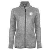 Grey Heather Ladies Fleece Jacket-Pharmacy Seal