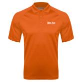 Orange Textured Saddle Shoulder Polo-University Mark