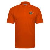 Orange Textured Saddle Shoulder Polo-Bengal Head