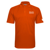 Orange Textured Saddle Shoulder Polo-Idaho State University College Pharmacy