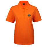 Ladies Easycare Orange Pique Polo-Bengal Head