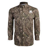 Camo Long Sleeve Performance Fishing Shirt-Bengal Head