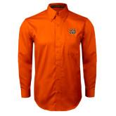 Orange Twill Button Down Long Sleeve-Bengal Head