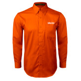Orange Twill Button Down Long Sleeve-University Mark
