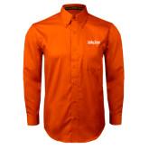 Orange Twill Button Down Long Sleeve-University Mark