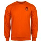 Orange Fleece Crew-Interlocking IS - Two Color