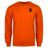 Orange Fleece Crew-Interlocking IS - One Color