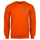 Orange Fleece Crew-Primary Athletics Mark