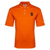 Under Armour Orange Performance Polo-Interlocking IS