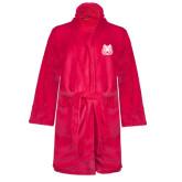 Ladies Pink Raspberry Plush Microfleece Shawl Collar Robe-Bengal Head