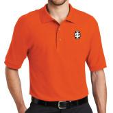 Orange Easycare Pique Polo-Interlocking IS - 2 Color