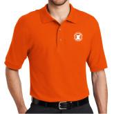 Orange Easycare Pique Polo-Pharmacy Seal