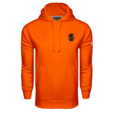 Under Armour Orange Performance Sweats Team Hood-Interlocking IS