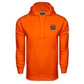 Under Armour Orange Performance Sweats Team Hood-Bengal Head