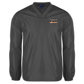 V Neck Charcoal Raglan Windshirt-Bengal Athletic Boosters