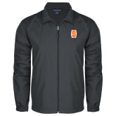 Full Zip Charcoal Wind Jacket-Interlocking IS - Two Color