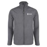 Grey Heather Softshell Jacket-Institutional Mark