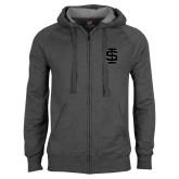 Charcoal Fleece Full Zip Hood-Interlocking IS