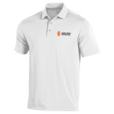 Under Armour White Performance Polo-Institutional Mark