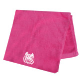Pink Beach Towel-Bengal Head