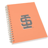 Clear 7 x 10 Spiral Journal Notebook-Interlocking IS