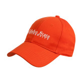 Orange Heavyweight Twill Pro Style Hat-University Mark