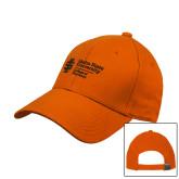 Orange Heavyweight Twill Pro Style Hat-College of Pharmacy