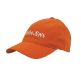 Orange Flexfit Mid Profile Hat-University Mark