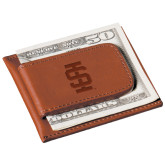 Cutter & Buck Chestnut Money Clip Card Case-Interlocking IS Engraved