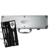 Grill Master 3pc BBQ Set-University Mark Engraved