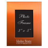 Orange Brushed Aluminum 3 x 5 Photo Frame-University Mark Engraved