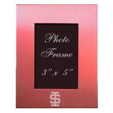 Pink Brushed Aluminum 3 x 5 Photo Frame-Interlocking IS Engraved