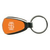 Orange Teardrop Key Holder-Interlocking IS Engraved