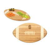 Touchdown Football Cutting Board-Interlocking IS - One Color Engraved