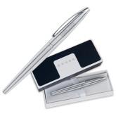 Cross ATX Pure Chrome Rollerball Pen-University Mark Engraved