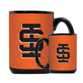 Full Color Black Mug 15oz-Interlocking IS