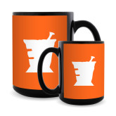 Full Color Black Mug 15oz-Idaho State University Mortar