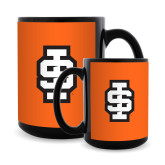 Full Color Black Mug 15oz-Interlocking IS - 2 Color