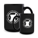 Full Color Black Mug 15oz-Pharmacy Seal