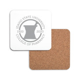 Hardboard Coaster w/Cork Backing-Pharmacy Seal