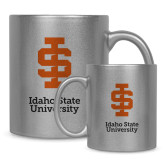 Full Color Silver Metallic Mug 11oz-Instituional Mark Stacked