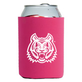 Collapsible Hot Pink Can Holder-Bengal Head