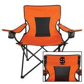 Deluxe Orange Captains Chair-Interlocking IS