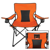 Deluxe Orange Captains Chair-Idaho State Block