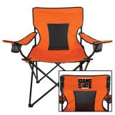 Deluxe Orange Captains Chair-Idaho State Block