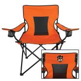 Deluxe Orange Captains Chair-Vintage Mascot Head