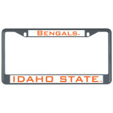 Metal License Plate Frame in Black-Bengals