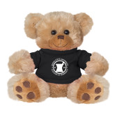 Plush Big Paw 8 1/2 inch Brown Bear w/Black Shirt-Pharmacy Seal